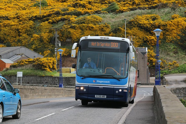 23rd April 2017. Stagecoach 53606 on the Bridge over the Deveron at Macduff, Banffshire, Scotland.