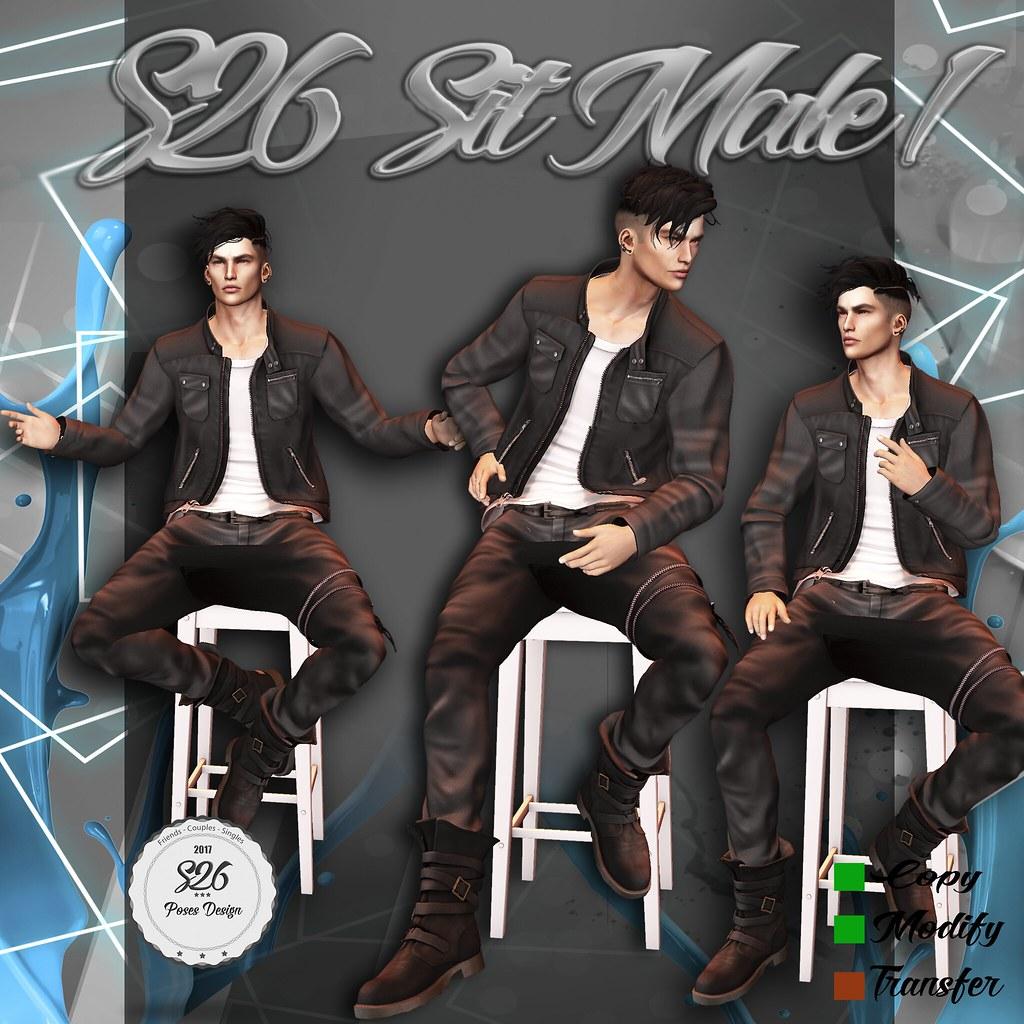 *** NEW *** S26 Sit Male 1 - SecondLifeHub.com