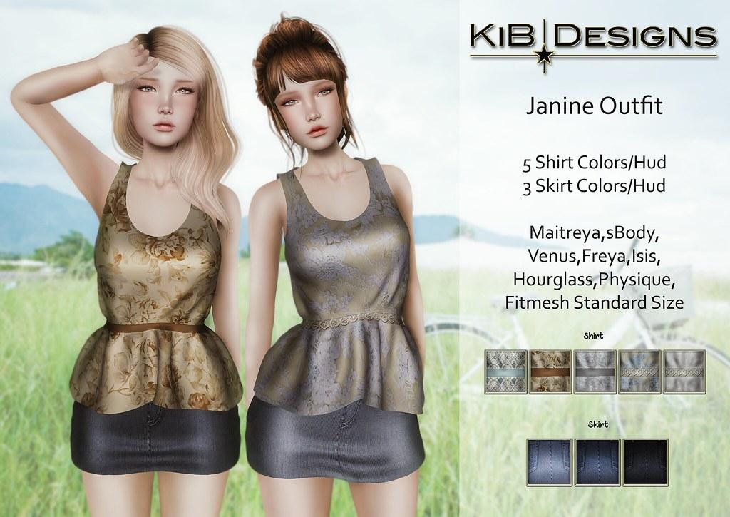 KiB Designs - Janine Outfit for The Garage Fair 2017 - SecondLifeHub.com