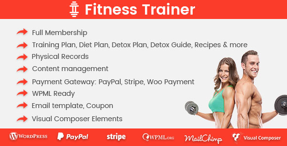 Fitness Trainer v1.0.1 - Training Membership Plugin