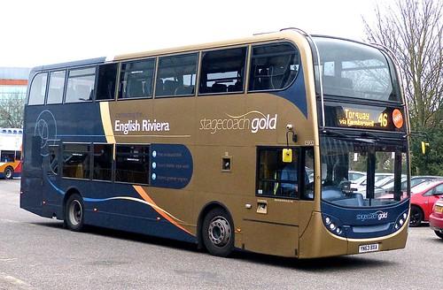 YN63 BXA 'Stagecoach Southwest' No. 15932 'Gold' Scania N230UD / Alexander Dennis Ltd. Enviro 400 on 'Dennis Basfords railsroadsrunways.blogspot.co.uk