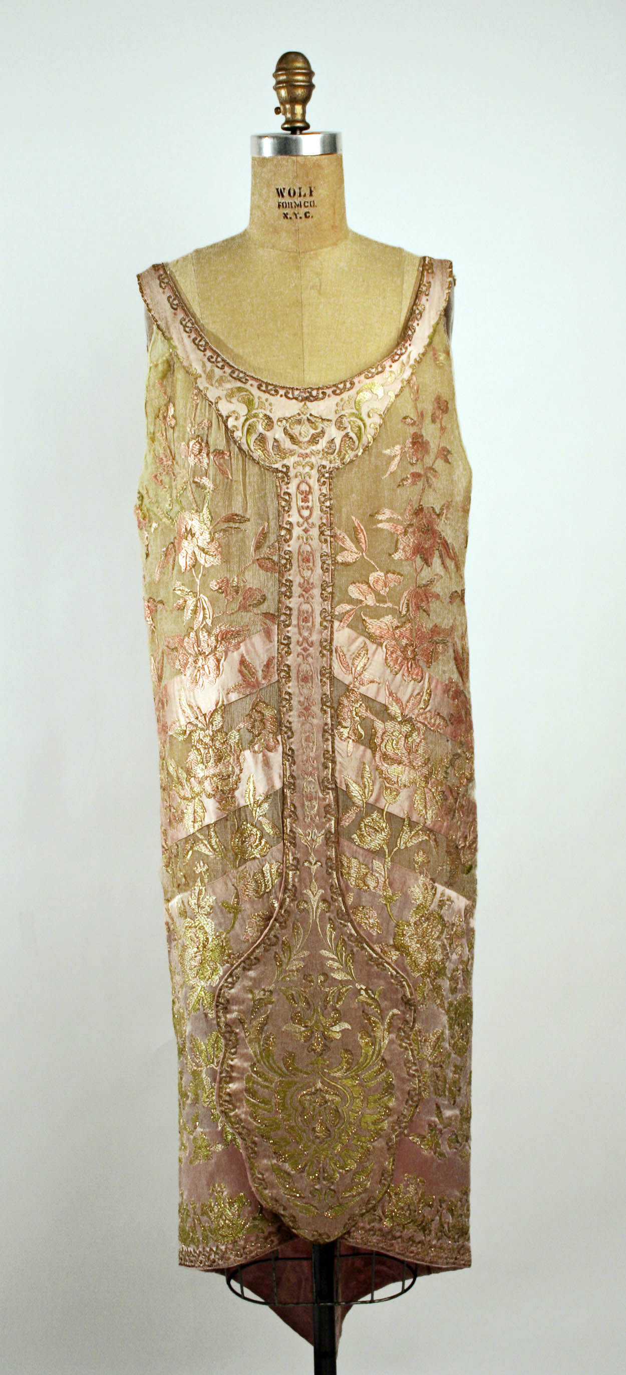 1920s Evening dress. French. Callot Soeurs. Silk, metallic. metmuseum