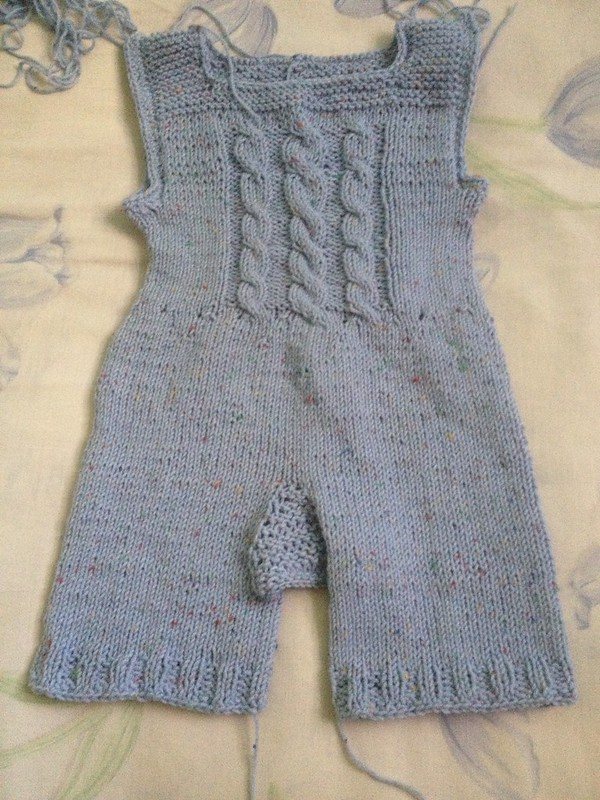 Happy Tweed Overalls front