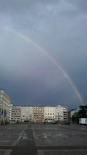 Regenbogen auf dem Festplatz Karlsruhe