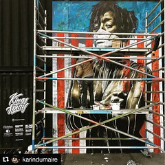 #Repost @karindumaire  Artist @EddieColla creating a canvas for Kings Spray curated by @StreetArtToday at @NDSM in Amsterdam, The Netherlands. Work in progress! #streetarttoday #eddiecolla #kingsspray