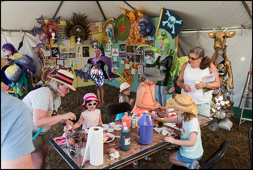 Mardi Gras arts area at Jazz Fest day 6 on May 6, 2017. Photo by Ryan Hodgson-Rigsbee www.rhrphoto.com