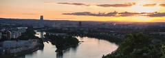 Sunset over Basel