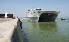 USNS Fall River (T-EPF 4) arrives in Da Nang, Vietnam, May 8 for Pacific Partnership. (U.S. Navy/MC2 Joshua Fulton)