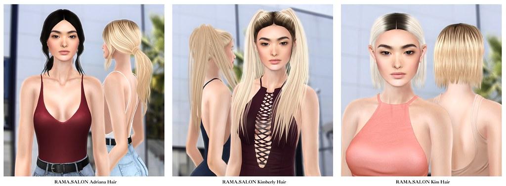 RAMA.SALON - Adriana & Kimberly Hairs, Kim Hair - SecondLifeHub.com