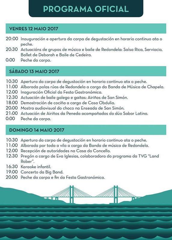 Redondela 2017 - XXXI Festa do Choco - programa