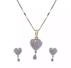 Gold Plated American Diamond Necklace Set