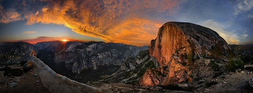 Half Dome at Sunset from the Diving Board - Yosemite