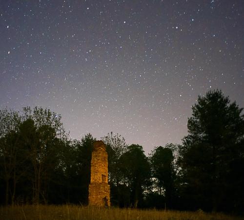 landscape rural night nocturnal sky stars starry northcarolina