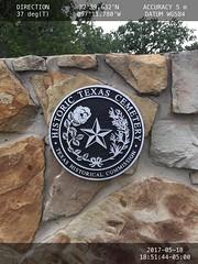 Hawkins Cemetery HTC medallion