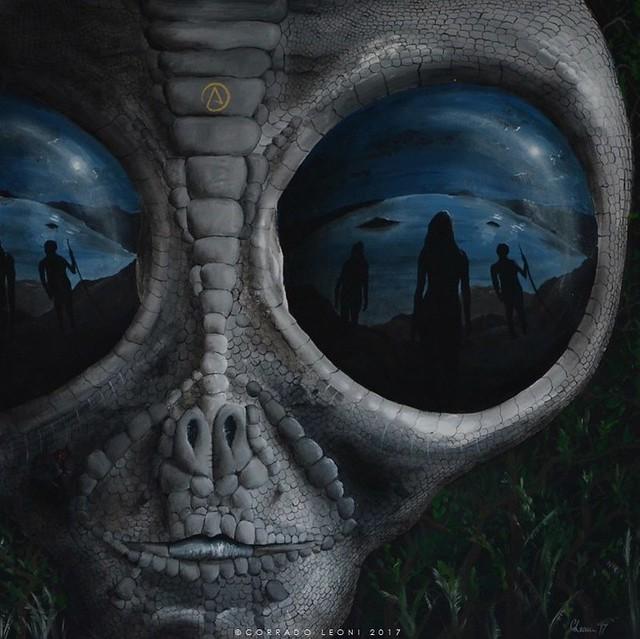 The Encounter - oil on canvas by Corrado Leoni