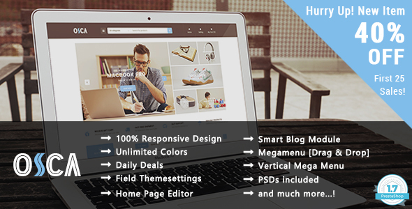 Osca v1.0 – Shopping Responsive Prestashop 1.7 Theme