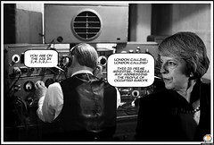 Theresa May negotiating with Brussels