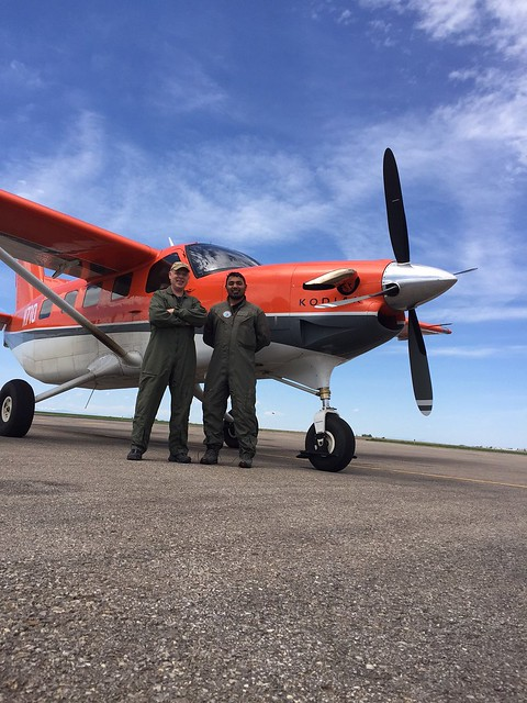 air crew montana and western dakotas 2017 spangler left and anthony right. Photo credit: Rob Spangler/USFWS