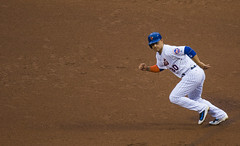 Michael Conforto heads to second
