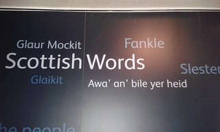 Puckle o Scots words