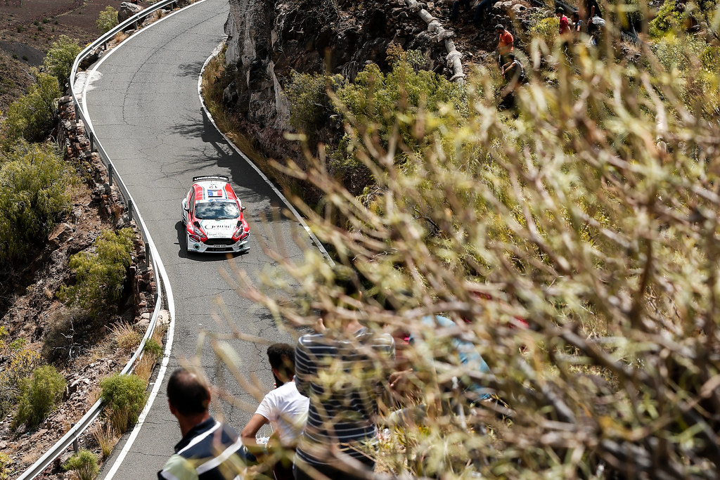 12 BOUFFIER Bryan  (FRA), GIRAUDET Denis (FRA), Fiesta Ford R5,Action during the 2017 European Rally Championship ERC Rally Islas Canarias, El Corte Inglés,  from May 4 to 6, at Las Palmas, Spain - Photo Alexandre Guillaumot / DPPI