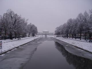 Schloss Nymphenburg im Winter
