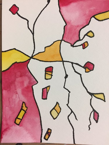 19 Ink and Watercolour Abstract 4