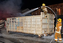 051217 - LAFD Quickly Extinguishes this North Hills Dumpster Fire