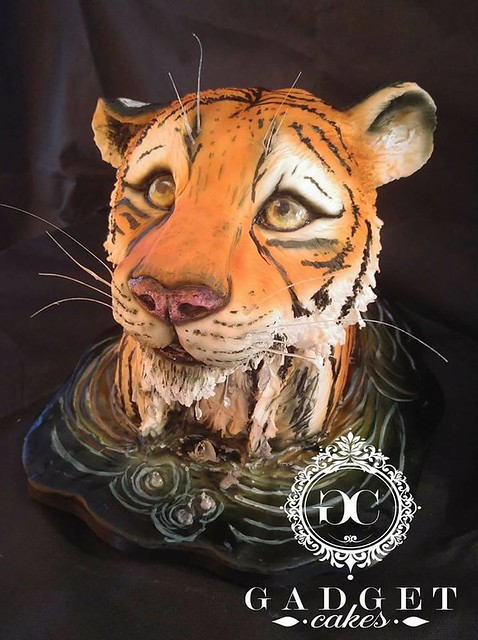 Tiger Cake by Hayley O'Beirnes of Gadget Cakes