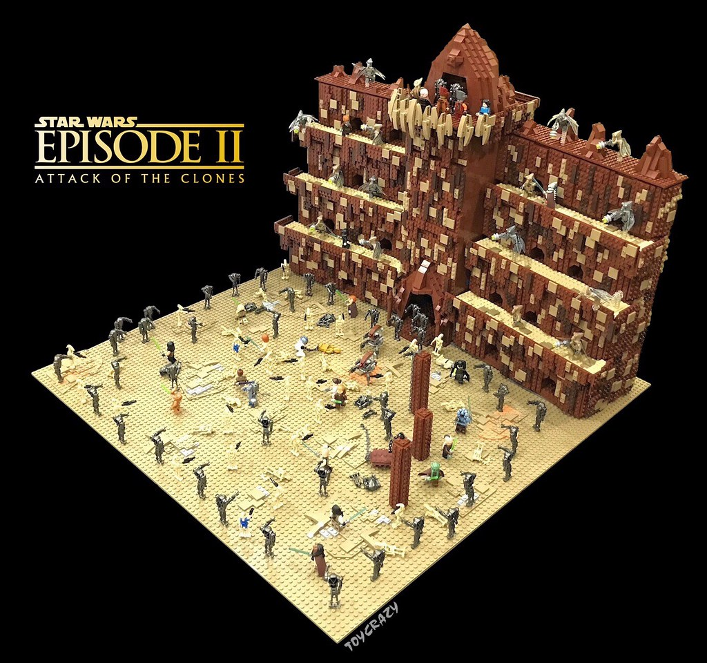 Star Wars Episode II – Battle of Geonosis (custom built Lego model)