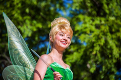 Tinkerbell in Mickey's Soundsational parade at Disneyland