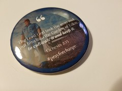 Here are some buttons we are making as part of the #RebrandClimateChange  change action, based on solutions to US climate change problems from the Morocco and    Indonesia thinktanks - two countries who are currently grappling with the effects of climate