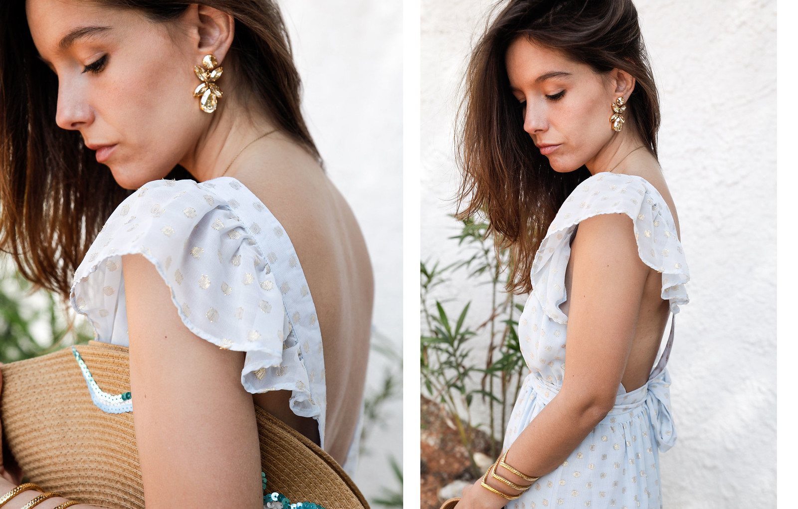 08_golden_dots_lunares_dorados_vestido_azul_boho_deby_debo_long_dress_theguestgirl_influencer_barcelona_style_content_creator_fashion_spain