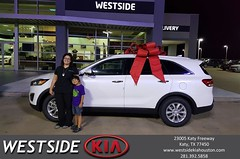 Happy Anniversary to Blanca on your #Kia #Sorento from Rick Hall at Westside Kia!