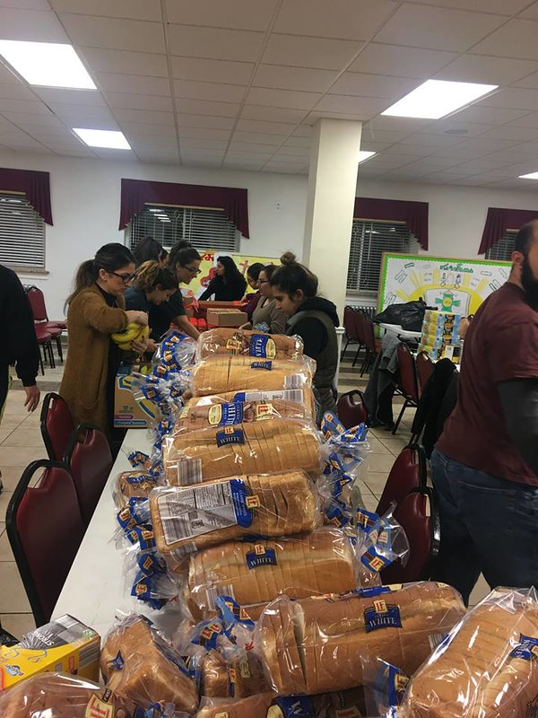 Packing Donated To-Go bags for those in need