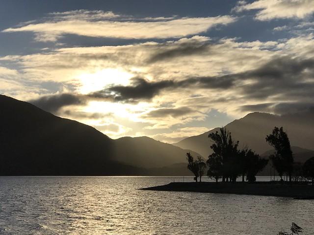 Sunset on Lake Te Auno