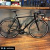 None more black... Garin's road bike is looking sweet! #Repost @aikibikey