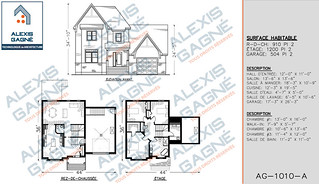 Plan de maison 2 étages avec garage - MM2eG.02