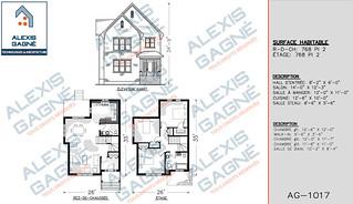 Plan de maison 2 étages - MM2e.01