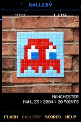 MAN_23 , Invader, Flash Invaders, street art Manchester