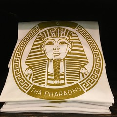 The New Fa-Harra University White and Gold Pharaoh T-Shirt is now available at @efscreenprinting Exclusively!!! Right next door to @millionairegrindclothing I have the Hickory Ridge Mall Memphis Tennessee  AWLDAY!  #YouAwlReadyNoIt!  #ffvlikeloveshare!  #