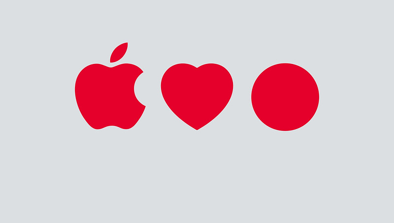 Apple Heart Red Dot