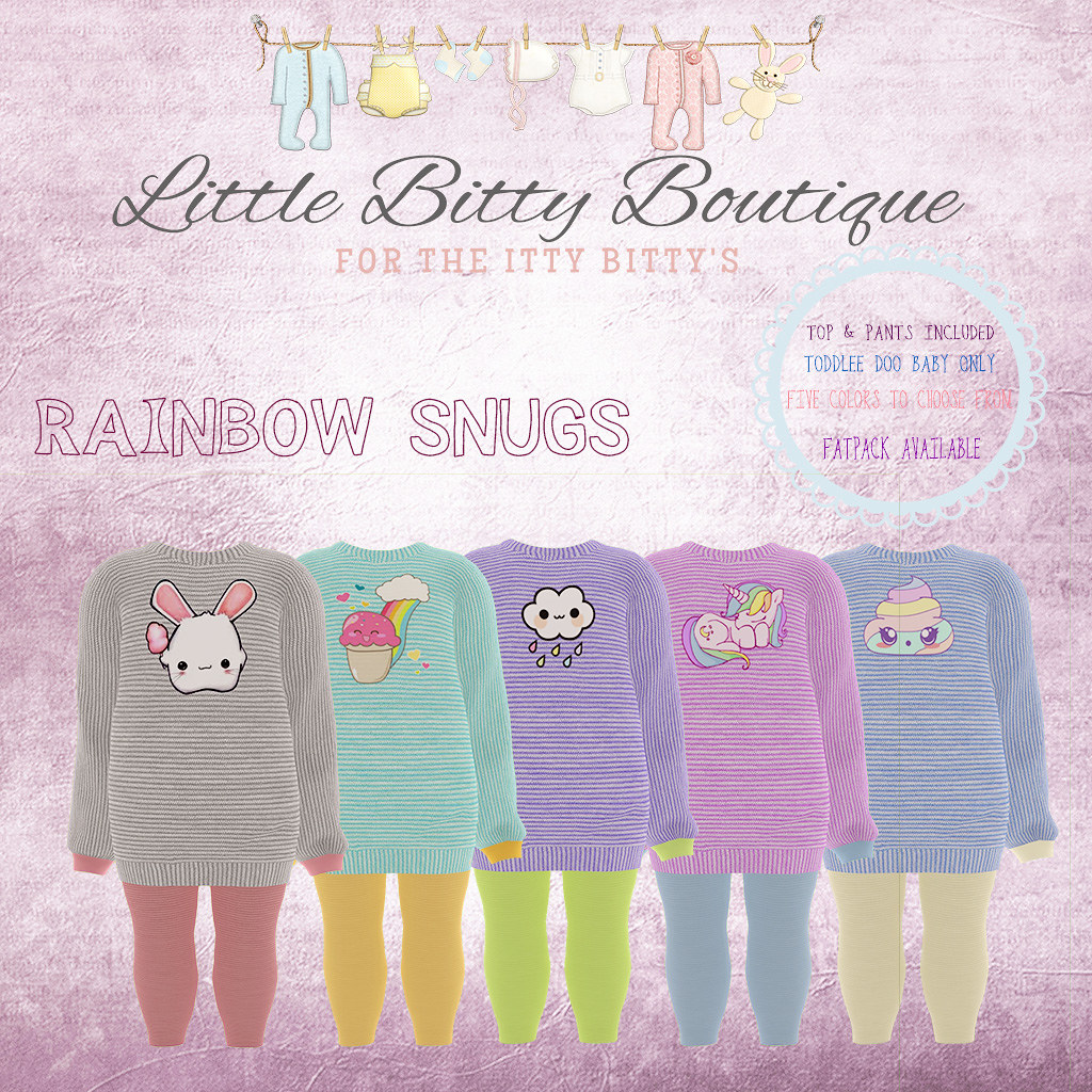 Rainbow Snugs - SecondLifeHub.com