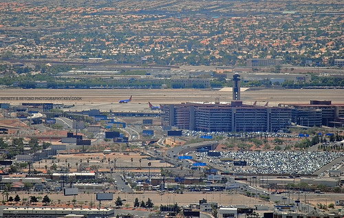 lasvegas mccarran international airport stratosphere hotel view