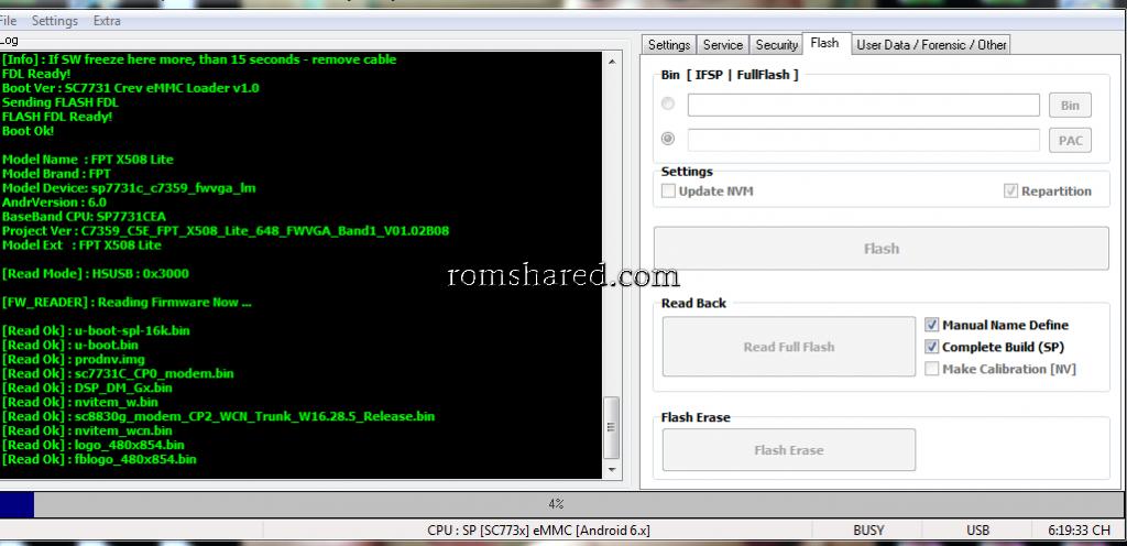 Th Mại - Rom FPT X508 Lite SC7731C Full Ok | Diễn Đàn Rom Firmware