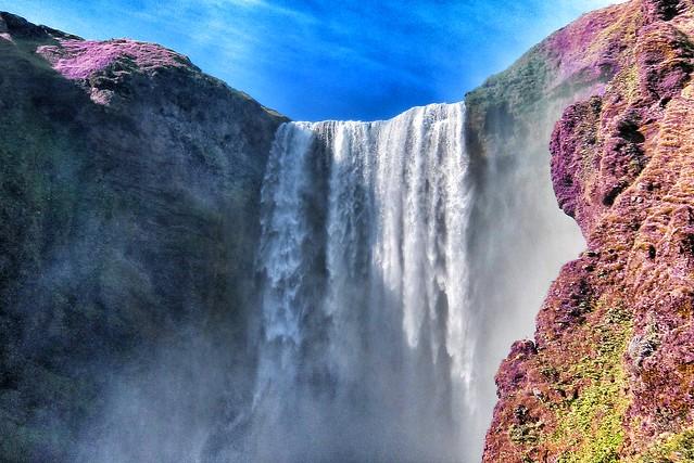 Iceland ~ Landmannalaugar Route ~  Ultramarathon is held on the route each July ~ Waterfalls