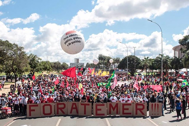 Ocupa Brasília contou com a participação de caravanas de diversas regiões do país - Créditos: Frente Brasil Popular