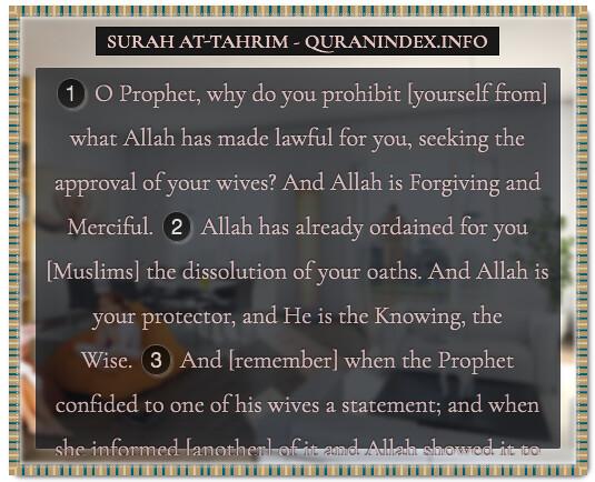 Quran 66 1 2