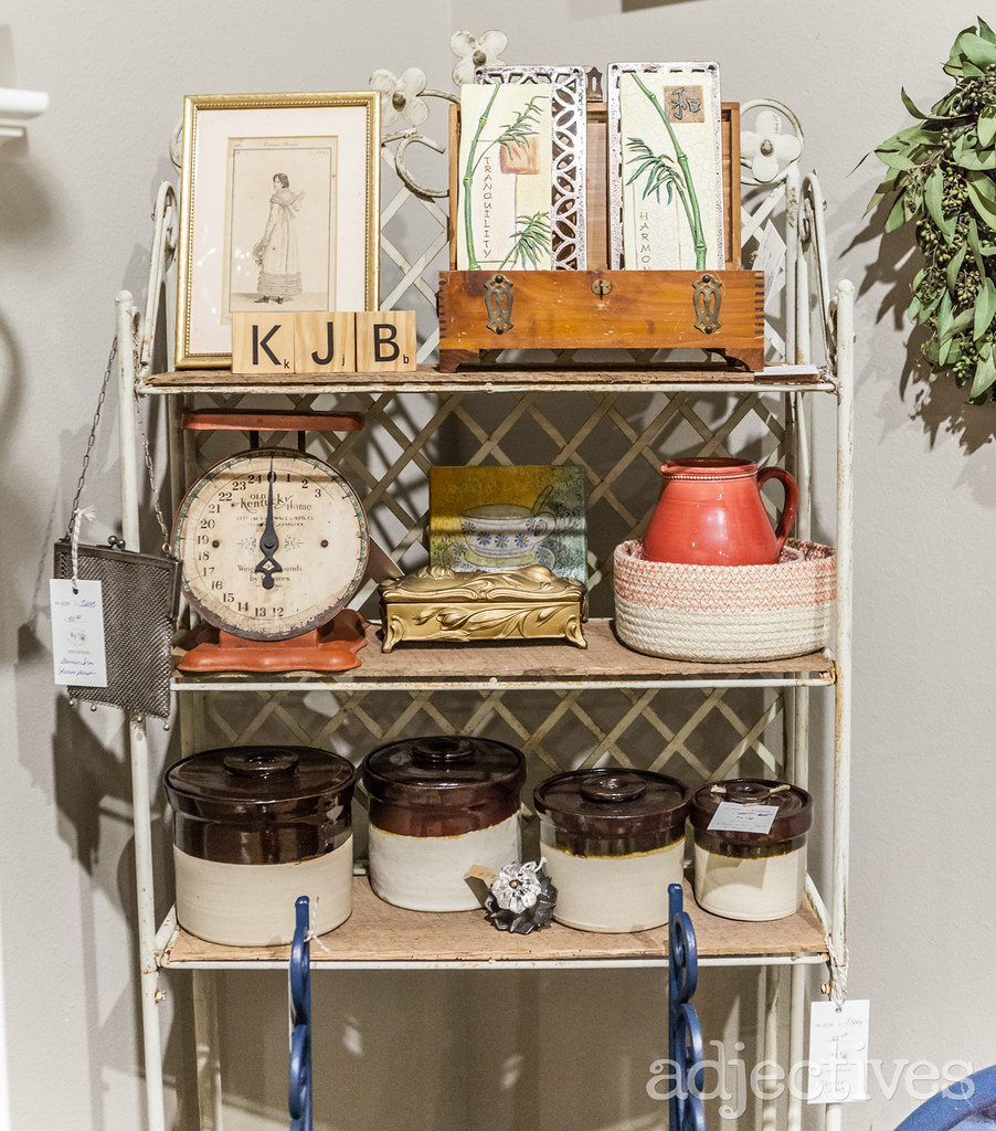 Vintage scale and vintage kitchen at Adjectives Winter Park by KJ2B