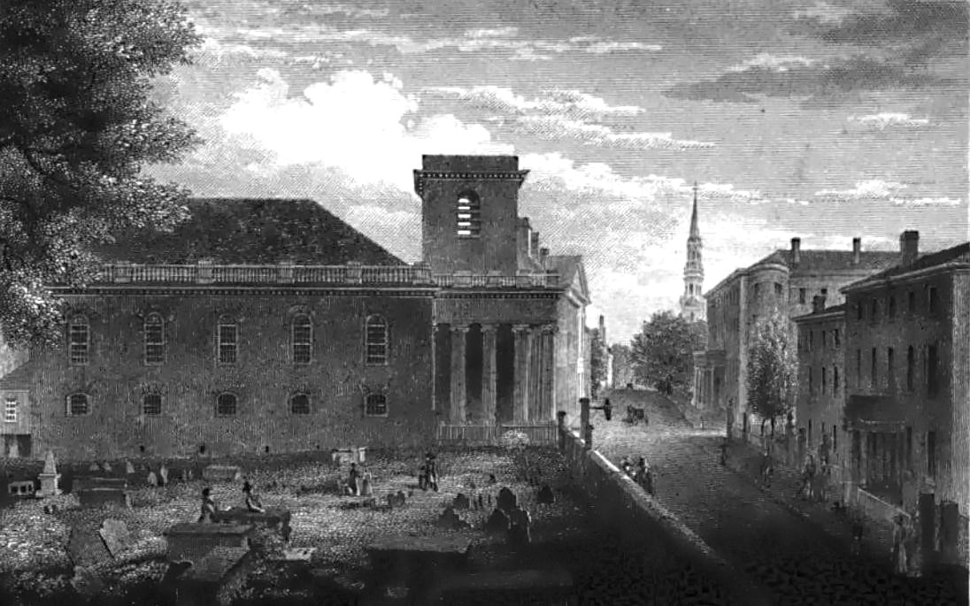 King's Chapel Burying Ground, Boston, 1833